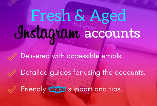 fresh and aged instagram accounts