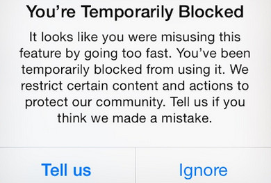 instagram limits reached